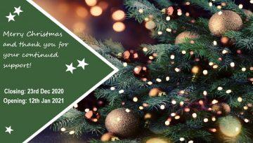 Tubeworx Christmas Closure 2020