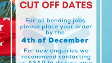 Christmas Order Cut Off Dates